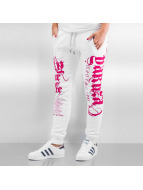Yakuza joggingbroek Fly Or Die wit