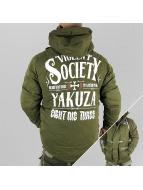 Yakuza Kurtki zimowe Violent Society oliwkowy