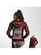 Yakuza Believe Faux Leather Jacket Bordeaux