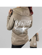 Yakuza Leather Jacket Dragon Fly gray