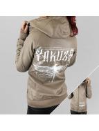 Yakuza Leather Jacket Dragon Fly grey