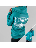 Yakuza Leather Jacket Dragon Fly turquoise