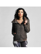 Yakuza Lederjacke One Love Faux Leather braun