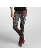 Yakuza Military Lady Leggings Camouflage Red