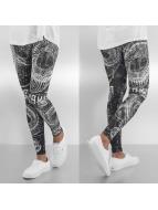 Yakuza Legging All-Over Print zwart