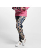 Yakuza Leggings/Treggings Floral blue
