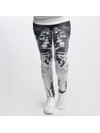 Yakuza Leggings/Treggings Moth hvit