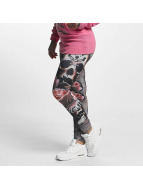 Yakuza Leggings/Treggings Rose Skull oliven