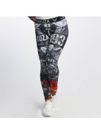 Yakuza Leggingsit/Treggingsit Flaming Flowers musta