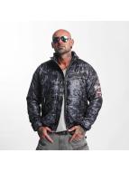 Yakuza Lightweight Jacket Trashed Quilted grey