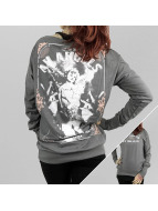 Yakuza Longsleeve An Angels Wide Crew grey