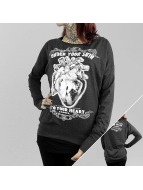 Yakuza Longsleeves Into Your Heart Wide Crew czarny