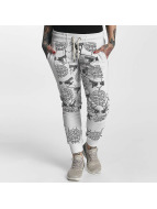Yakuza Allover Snake Sweatpants White