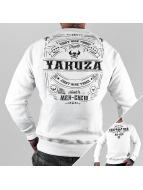 Yakuza Pullover Mex-Crew blanc