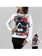 Yakuza Pullover Skull Allover blanc