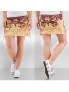 Yakuza Rock Moth Skirt beige