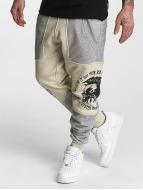 Yakuza Spodnie do joggingu Punx Two Face Antifit bezowy