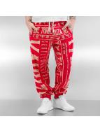 Yakuza Spodnie do joggingu Gentleman Club czerwony