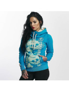 Yakuza Skull Cross Neck Hoody Algiers Blue