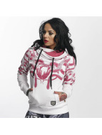 Yakuza Meduse Cross Neck Hoody White
