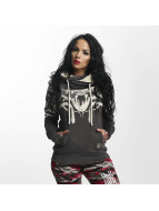Yakuza Meduse Cross Neck Hoody Dark Shadow