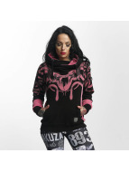 Yakuza Meduse Cross Neck Hoody Chateau Rose