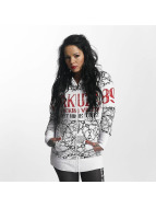 Yakuza Allover Chains Long Zip Hoody White