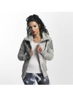 Yakuza Daily Skull High Neck Zip Hoody Light Grey Melange