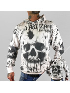 Yakuza Sweat à capuche Skull Allover blanc
