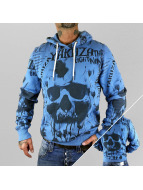 Yakuza Sweat à capuche Skull Allover bleu
