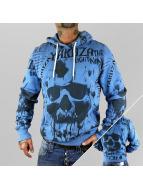 Yakuza Sweat à capuche Skull Allover bleu