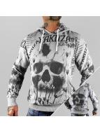 Yakuza Sweat à capuche Skull Allover gris