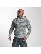 Yakuza Sweat à capuche Gunner Allover gris