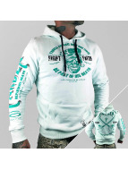 Yakuza Sweat à capuche Fight Faith turquoise
