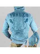 Yakuza Sweat à capuche zippé Commandments bleu
