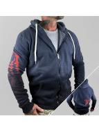 Yakuza Sweat à capuche zippé Daily Dip Dye bleu