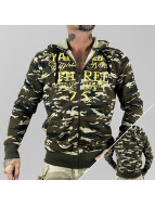Yakuza Sweat à capuche zippé Jesus Or Cocaine camouflage