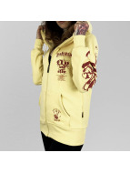 Yakuza Sweat à capuche zippé Fly or Die jaune