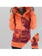 Yakuza Sweat à capuche zippé Crow orange