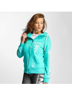 Yakuza Sweat à capuche zippé Fly or Die turquoise