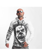 Yakuza Sweat capuche Allover King blanc