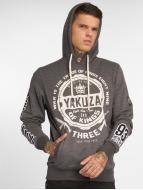 Yakuza Trade Of Kings Hoody Dark Grey Melange