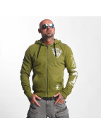 Yakuza Sweat capuche zippé Armed Society vert