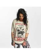 Yakuza Circus Inferno T-Shirt Bone White