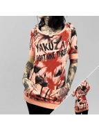 Yakuza T-paidat Flower Allover Hooded oranssi