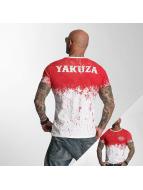 Yakuza T-paidat Splatter valkoinen