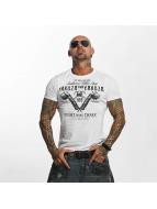 Yakuza T-shirt Tattoo Shop bianco