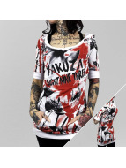 Yakuza T-Shirt Flower Allover Hooded blanc