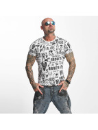 Yakuza T-Shirt Allover Label blanc