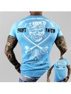 Yakuza T-Shirt Fight Faith bleu
